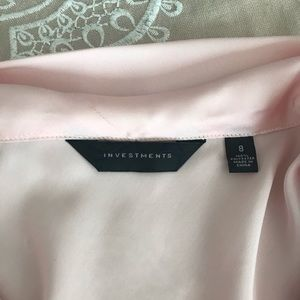 Investments Tops - Soft pink, silk blouse